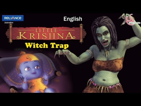 Little Krishna English Episode 13 witch Trap Animation Series video