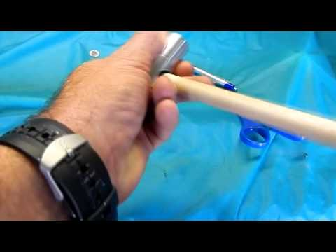 How to Shape a pool Cue Tip