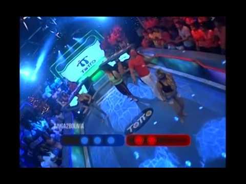 Marcia Avila le dio la victoria al equipo azul en Arriba de la Pelota #Juga2Bolivia