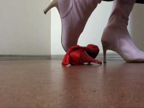 Trampling with pink boots Video