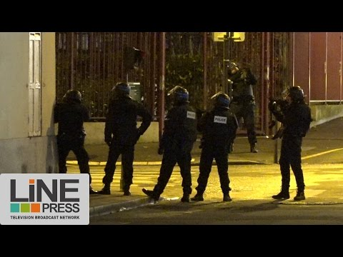 Attentat Charlie Hebdo. Prise d'otages Hyper Cacher. Axe arrière / Paris - France 09 janvier 2015