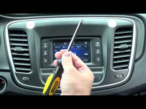 2015+ Chrysler 200 Factory GPS Navigation Radio Upgrade! Radio Removal & Installation!