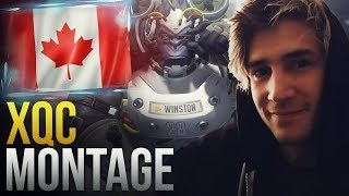 """Best of """"XQC"""" CANADIAN TANK GOD - Overwatch Montage"""