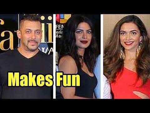 Leaked: Salman Khan Makes Fun Of Priyanka Chopra and Deepika Padukone At IIFA 2016