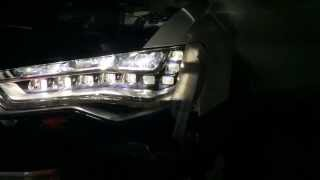Audi A6C7 Original LED Headlights Retrofitted in Singapore