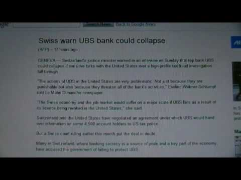 UBS Bank of Switzerland could collapse should it's US license be revoked.