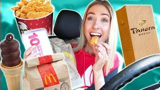 Letting The Person In Front of Me DECIDE What I Eat CHALLENGE + Mini Mukbang!