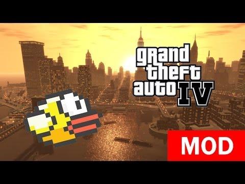 GTA 4 - Flappy Bird Mod