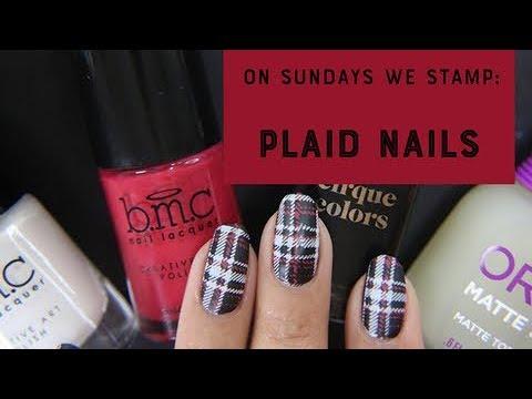 On Sundays We Stamp  Plaid