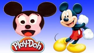 Play Doh How to make Mickey Mouse with play dough
