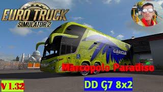 Euro Truck Simulator 2 Bus Mods Scania Marcopolo Paradiso DD G7 8x2 gameplay