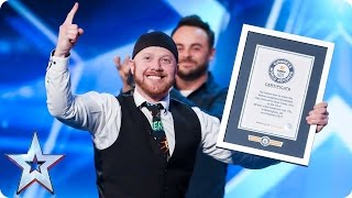 Ryan Tracey is on a balloon blindfolding mission | Auditions Week 3 | Britain's Got Talent 2017