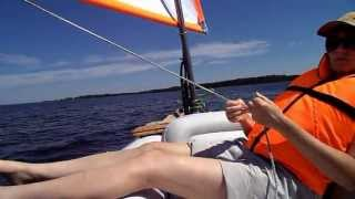 Dinghy Sailing Holidays: Inflatable sailboat / Надувной парусник