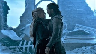 Jon Snow and Daenerys last Moments before Iron Throne Scene  | GOT 8x06 Finale