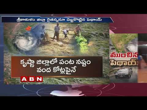 Phethai Cyclone causes Rs 200 crores crop loss in Andhra Pradesh | ABN Telugu