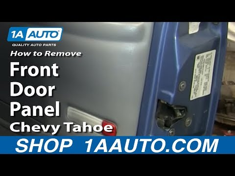How To Remove Front Door Panel 1996-99 Chevy Tahoe