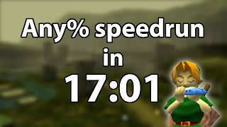 Ocarina of Time Any% speedrun in 17:01 by Torje [World Record]