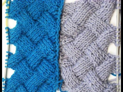 Entrelac Knitting Patterns ( without Turning Work) _ Узор Энтерлак