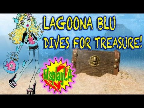 Monster High Doll Short Movie - Laguna Blue Dives for Treasure! on MsPlayLA