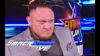 Resultados WWE SmackDown Live Samoa Joe vs Aj Styes Jeff Hardy se venga de Nakamura 14/08/2018