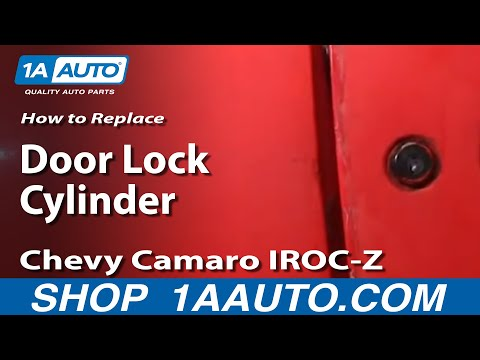 How To Install Replace Door Key lock Cylinder 82-92 Chevy Camaro Iroc-z Pontiac Firebird 1AAuto.com