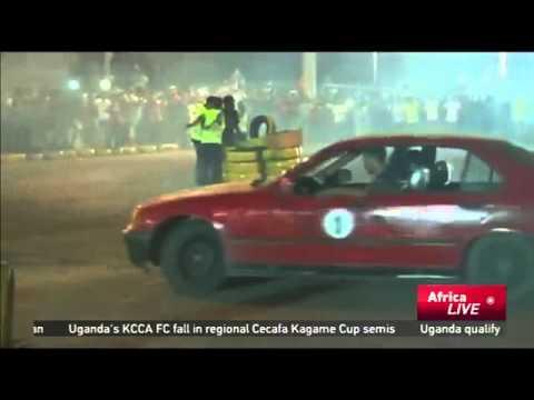 5824 sport CCTV Afrique Car enthusiasts showcase their Motor stunt skills in Tripoli