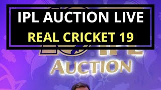 IPL AUCTION LIVE ACTION | ANDROGAMER MALAYALAM | REAL CRICKET 19 PART 2