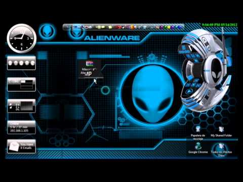 como poner el reproductor de musica de alienware