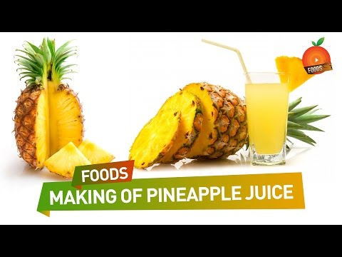 How to Make Pineapple Juice - Orange Foods