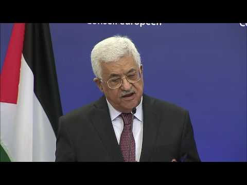 european council mahmoud abbas