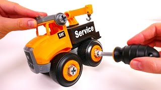 Construction Vehicles for Kids! Machine Maker Tow Truck Cat Playset