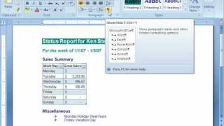 Microsoft Word Training Tutorial