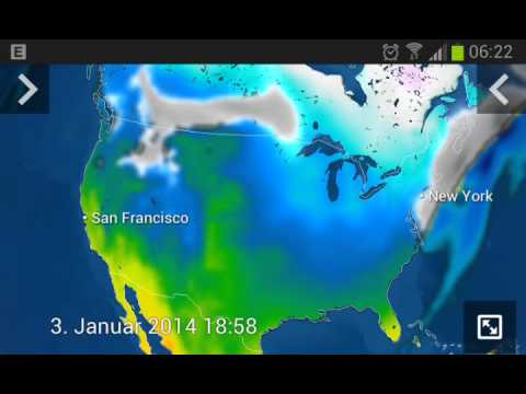 Northeast Snowstorm followed by intense cold January 2014