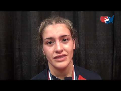 Helen Maroulis (USA) after winning silver medal at 55 kg at 2012 Women's Worlds
