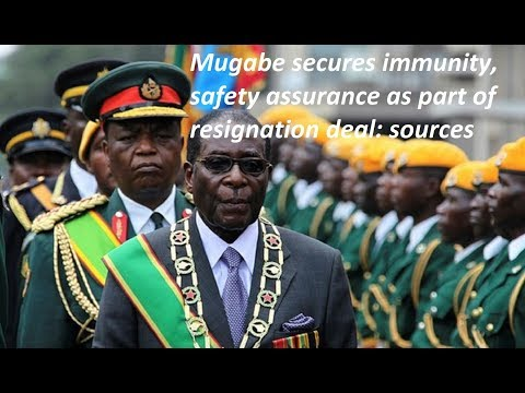 Mugabe secures immunity, safety assurance as part of resignation deal: sources