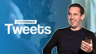 Gary Neville Reacts To His Funniest Ever Tweets | #ThrowbackTweets