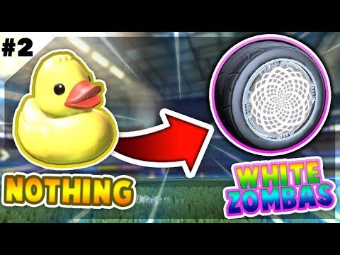 TRADING FROM NOTHING TO WHITE ZOMBA *EP2* (ROCKET LEAGUE BEST TRADES)