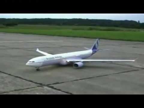 เครื่องบินบังคับ Airbus A330 ลงจอดสวยมาก