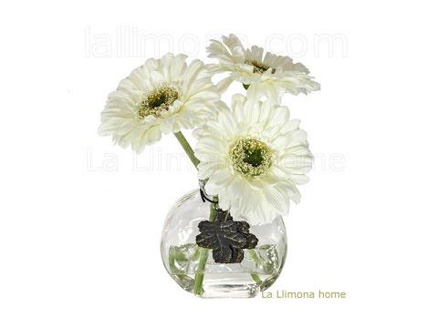 Arreglos florales artificiales arreglo floral gerbera - Arreglos florales con flores artificiales ...