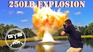 250lb. EXPLODING TARGET----WOW!!!!!!!!