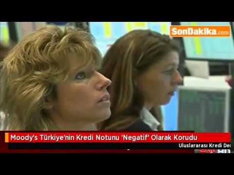 Moody's Türkiye'nin Kredi Notunu 'Negatif' Olarak Korudu