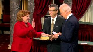 Swearing in of Senator Heidi Heitkamp (D-N.D.)