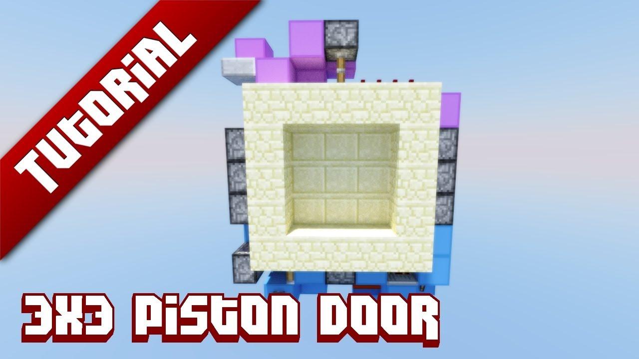 Minecraft Piston Door 3x3 Minecraft Tutorial 3x3 Piston