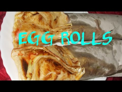 Egg rolls/ chapathi egg rolls in telugu