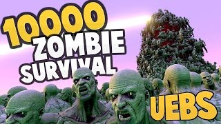 UEBS - SURVIVAL MODE: 1 vs 10000 ZOMBIES! + Update! New Units & Map - Ultimate Epic Battle Simulator