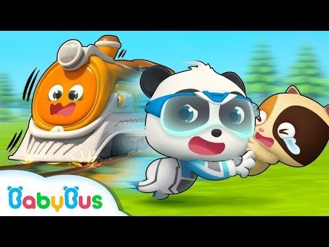 Super Panda Rescues Baby Kitten | Super Panda Rescue Team | Panda Cartoon | Kids Song | BabyBus