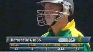 6 sixes in 6 ball by gibbs
