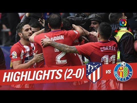 Resumen de Atlético de Madrid vs Getafe CF (2-0)