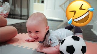 Baby Noah Laughing Hysterically at Ball|Cutest thing ever!!