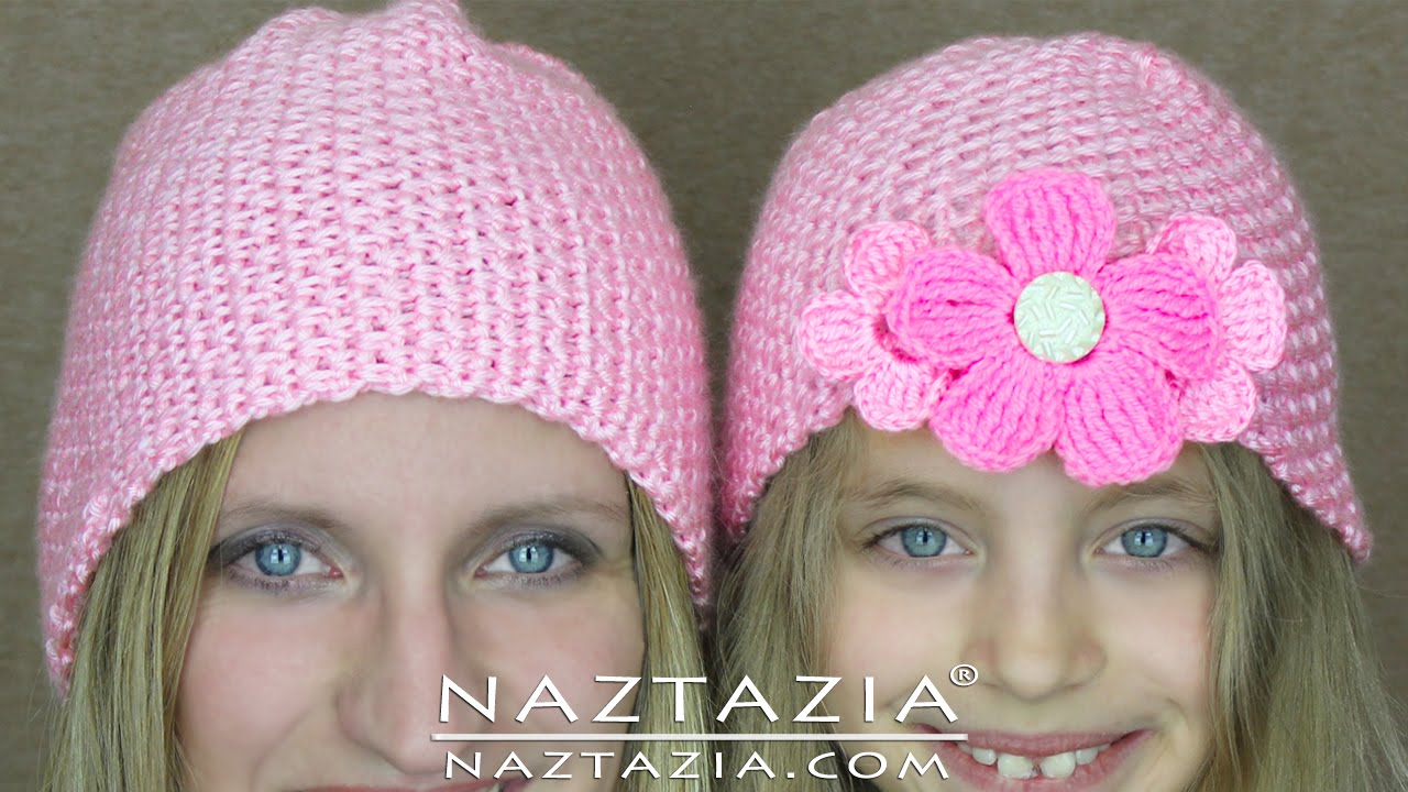 Crochet Patterns For Baby Hats For Beginners : DIY Learn How to Crochet Easy Beginner Crocheted Hat ...